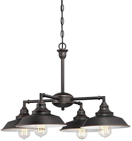 Westinghouse Lighting 6343300 Iron Hill Four-Light Indoor Convertible Chandelier/Semi-Flush Ceiling Fixture