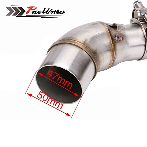 A middle connect for kawasaki Z250SL Motorcycle Exhaust Pipe Muffler Escape Connecting Pipe Front Link Pipe Moto Mid Pipe by pacewalker (Image #5)