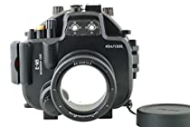MEIKON 40M/130ft Waterproof Underwater Camera Housing Diving Case for Olympus E-M5 Can Be used with 12-50mm Lens