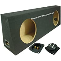 ASC Dual 12 Subwoofer Regular Standard Cab Truck Sealed Sub Box Black Speaker Enclosure