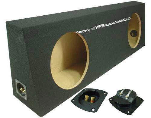 ASC Dual 12'' Subwoofer Regular Standard Cab Truck Sealed Sub Box Black Speaker Enclosure by American Sound Connection