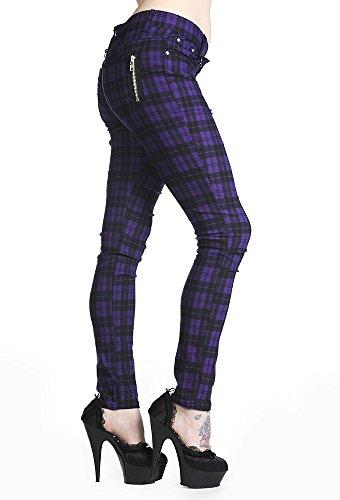 Banned Pantalones Apparel Skinny Vaqueros Check Morado Jeans OIWOrwcqPf