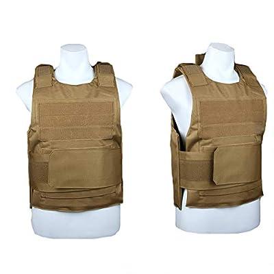 GXYWAN Tactical Vest, Combat Vest CS Field Protection Equipment (Beige)