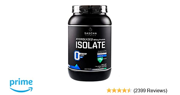 Amazon.com: Sascha Fitness Hydrolyzed Whey Protein Isolate,100% Grass-Fed (2 Pounds, Vanilla): Health & Personal Care