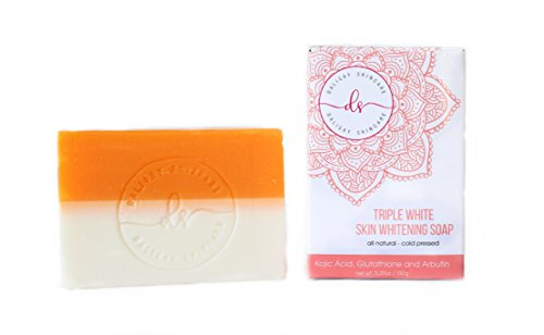 Triple Whitening Skin Whitening Soap Kojic + Arbutin + Glutathione 150g - Fades Acne Scars and Blemishes