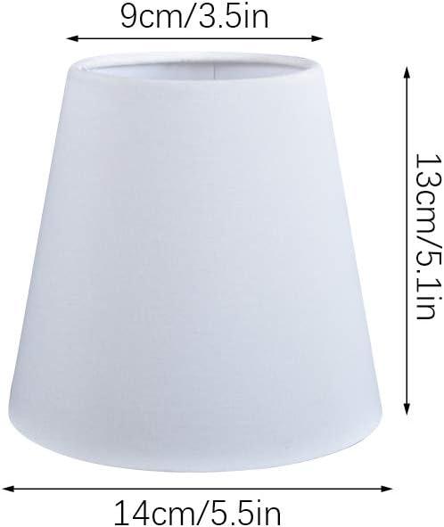 Paralume a clip E14 E27 per lampadario in tessuto moderno Lino Globe-Warehouse