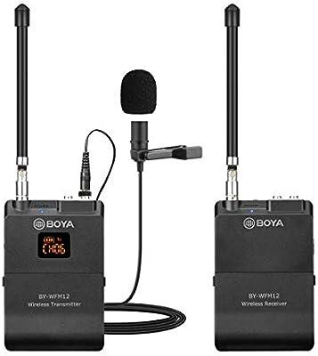Sistema de micrófono inalámbrico Lavalier de 12 canales, BOYA BY ...