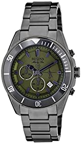 Bulova Men's 98B206 Analog Display Japanese Quartz Grey Watch