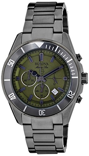 Bulova Mens 98B206 Analog Display Japanese Quartz Grey Watch