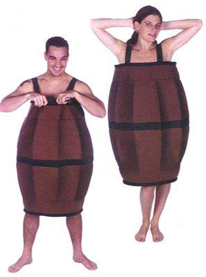 Barrel of Fun Costume - Great Hillbilly