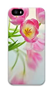 covers girly Pink Tulips PC Case for iphone 5/5S