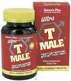 Plus 60 Tabs (Nature's Plus - Ultra T Male Extended Release Bi-Layered Tablets, 60 Count (Pack of 3))