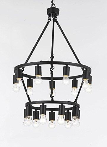 Chandelier Rustic Style 18-light Double Tiered Chandelier Lighting