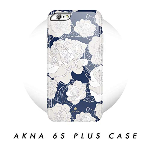 iPhone 6 Plus/iPhone 6s Plus case, Vintage Floral Pattern, Akna Hard Silicon Back Cover for Girls (51-U.S)