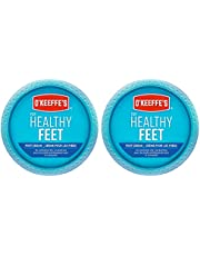 O'Keeffe's Healthy Feet Foot Cream, Healing Moisturizer, Relieves and Repairs Extremely Dry Cracked Feet, Instantly Boosts Moisture Levels, Two 3.2oz/90.7g Jars, (Pack of 2) 108484 White