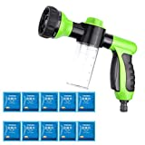 EnjoCho Hose Nozzle,Multifunctional Effervescent Spray Cleaner Car Cleaning Foam Sprayer with 10 pcs Concentrated Effervescent (Green)