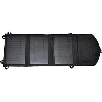 Venti 3 panel de batería solar cargador solar - 11 vatios cargador solar plegable, etc, con dos puertos USB para teléfonos móviles, tabletas, ...