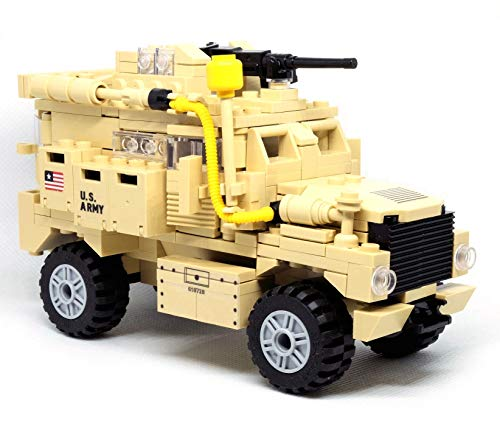inFUNity Army Vehicle Cougar MRAP Building Blocks, Good with Army Minifigures, Military Vehicles