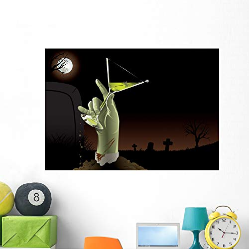 Wallmonkeys Zombie Martini Wall Mural Peel and Stick Graphic (48 in W x 34 in H) WM5843
