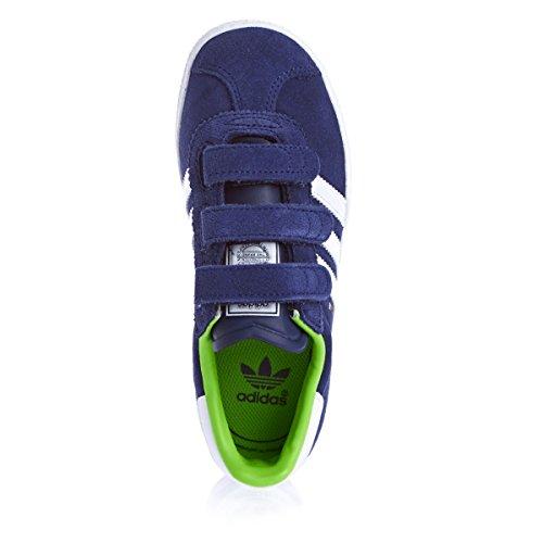adidas Gazelle Cf 2 C - Zapatillas Unisex Niños Azul / Blanco / Verde