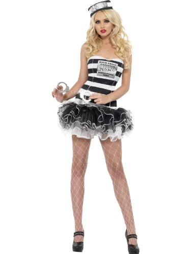 Convict Cutie Halloween Costume (Fever Women's Convict Cutie Costume)