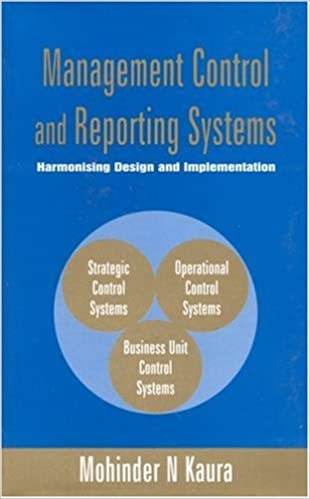 Management Control And Reporting Systems Harmonising Design And Implementation Response Books Kaura Mohinder N 9780761996071 Amazon Com Books