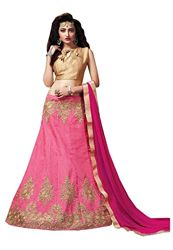Da Facioun Womens Striking A Line Lehenga Style in Pink Color 84065