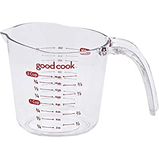 Good Cook Clear Measuring Cup with Measurements, 2-Cup (2 pack Medium)