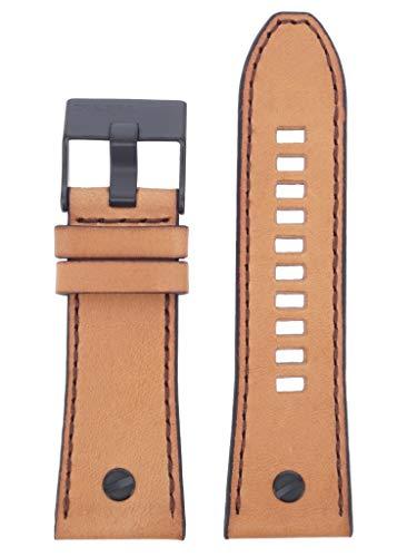 Diesel LB-DZ7406 Replacement Watch Strap DZ7406 Leather Watch Strap 28 mm Brown