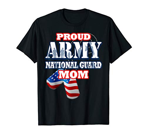 (USA Proud Army National Guard Mom Mothers Shirt Women)