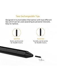 ciscle bolígrafo, lápiz capacitivo: 1,0 mm. de alta precisión digital de superficie, con 1024 niveles de sensibilidad a la presión, derecho clic y borrado en botones