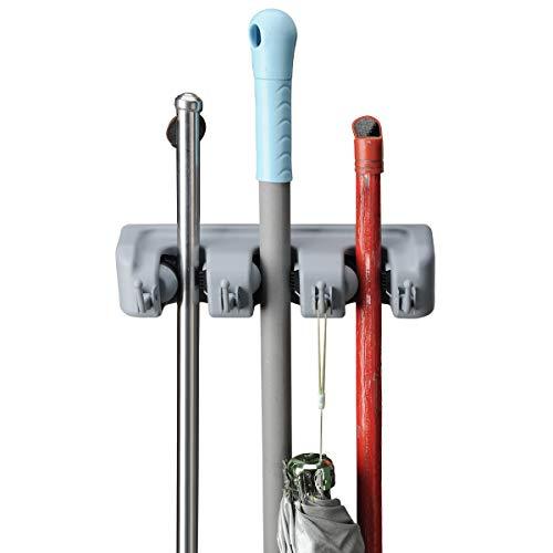 ROCKBIRDS Broom Mop Holder, T56 Multipurpose Wall Mounted Or