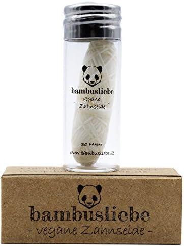[Gesponsert]bambusliebe Vegane Zahnseide mit Maisseide - Mit Candelilla-Wachs & Edelminze - Inkl. wiederverwendbarem Glas...