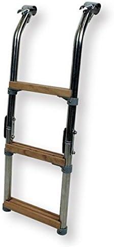 ceredi Acero Inoxidable Escalera de Baño para plataformas de baño con Marino Madera de niveles plegable 68 cm: Amazon.es: Deportes y aire libre