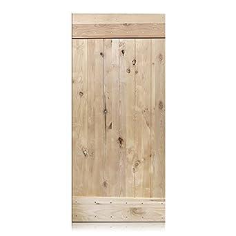 Alessandro   36u0026quot; X 96u0026quot; Rustic Unfinished Barn Door 1 Panel V