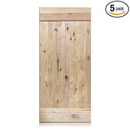 Alessandro 36 X 96 Rustic Unfinished Barn Door 1 Panel V Groove