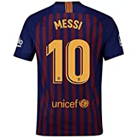 CRONTO 2018-2019 Home Messi #10 Barcelona Soccer Jersey...