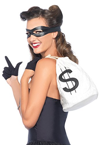 Leg Avenue Women's 3 Piece Bandit Costume Kit, Black, One Size
