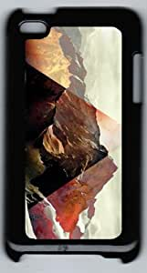 Style With Digital Art- Abstract Colorful Anti-Skid Hard Back Shell Case for ipod Touch 4 (Black 5) -52936