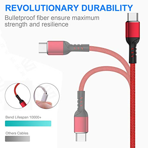Charger Cable for Nintendo Switch - 2 Pack 10FT Nylon Braided USB C to USB A Type C Fast Data Sync Power Charging Cord Accessories for Samsung Galaxy S9 S8 Note 9, Pixel, LG V30 G6 G5, OnePlus 5 3T
