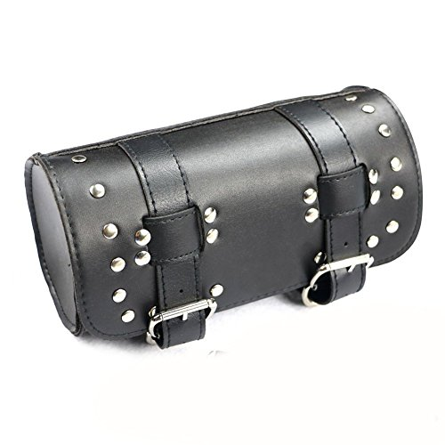 Front Fork Tool Bag Luggage SaddleBag for Harley Sportser Chopper Bobber Cruiser Faux leather (Luggage Tool Bag Motorcycle)