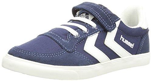 Hummel Canvas, Unisex-Kinder Low-Top Sneaker, Blue (Dress Blue/White), 32 EU
