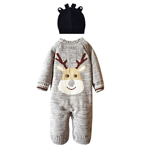Good The Bad And The Ugly Costumes (Fashion Story Toddler Unisex Baby Newborn Baby Kids Xmas Sweater Deer Theme Christmas Infant Romper Suit 0-22 Months With Hat)