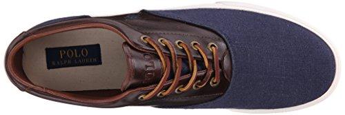 Polo Saddle Ralph Polo Mens Vaughn Indigo Tan Lauren Sneaker Blue Fashion IrIOTxq1w