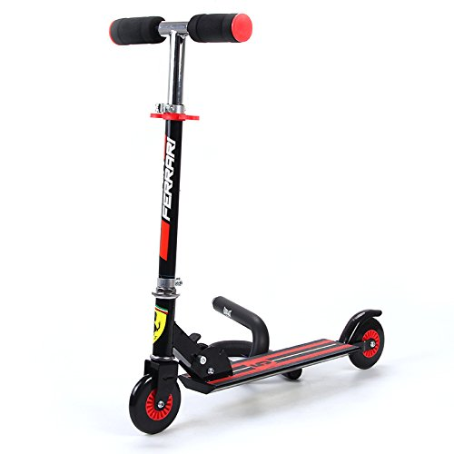 Ferrari Kids Two Wheels Scooter, Black