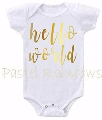 Hello World Rainbow Onesie