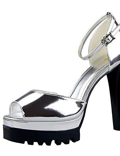 Uk6 Oro us8 Eu37 Golden cuero Stiletto 7 Zq 5 5 Plata us6 5 Eu39 De tacones Uk4 tac¨®n Champ¨¢n negro Zapatos Patentado casual Cn37 Cn39 Mujer tacones Black qx7CwTgxZ