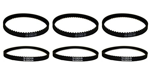 BISSELL PROHEAT 2X BELT SETS 2036688 / 2036804 - 6 BELTS TO