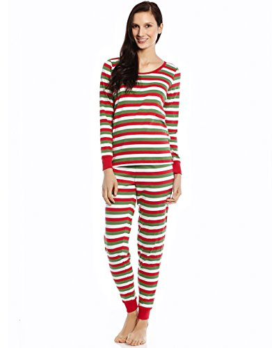 Leveret Womens Fitted Striped Pajama