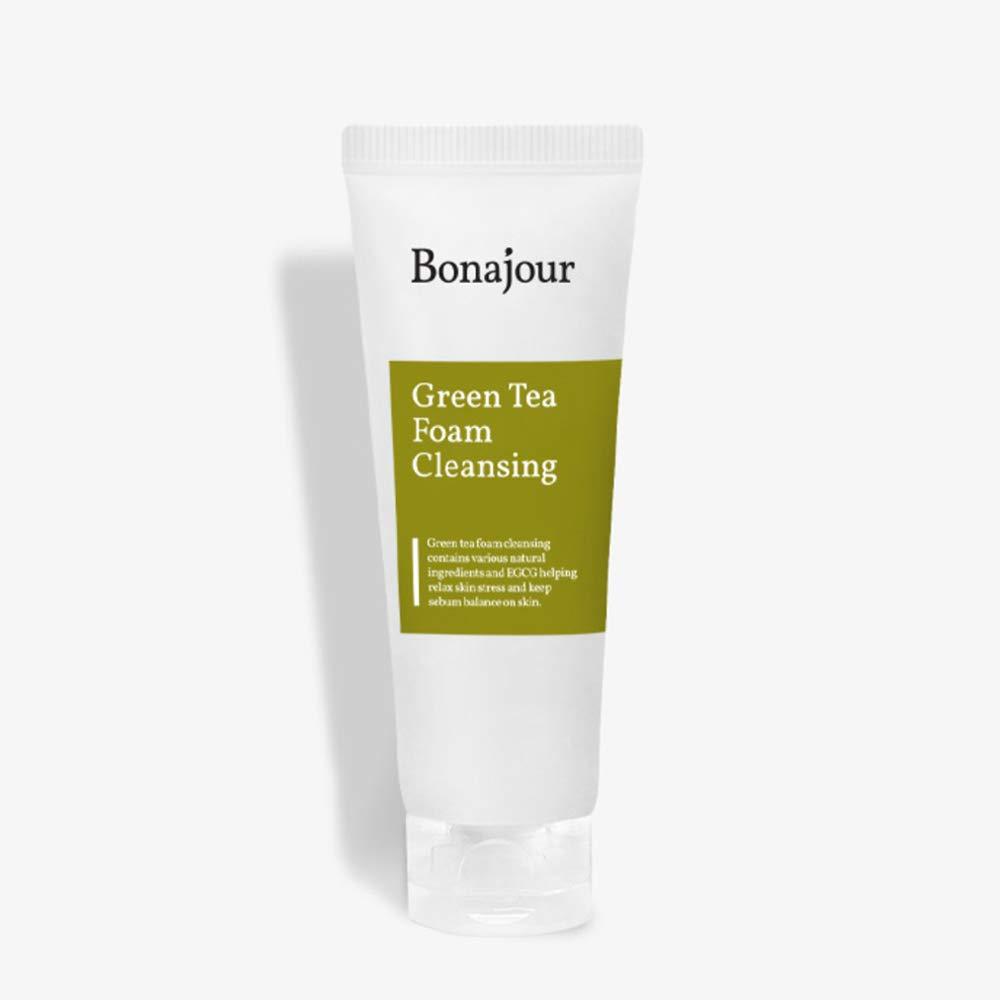 [BONAJOUR] Green Tea Natural Pores Foam Cleanser - The Best Facial Wash for Acne & Oily skin 5.1Fl.oz